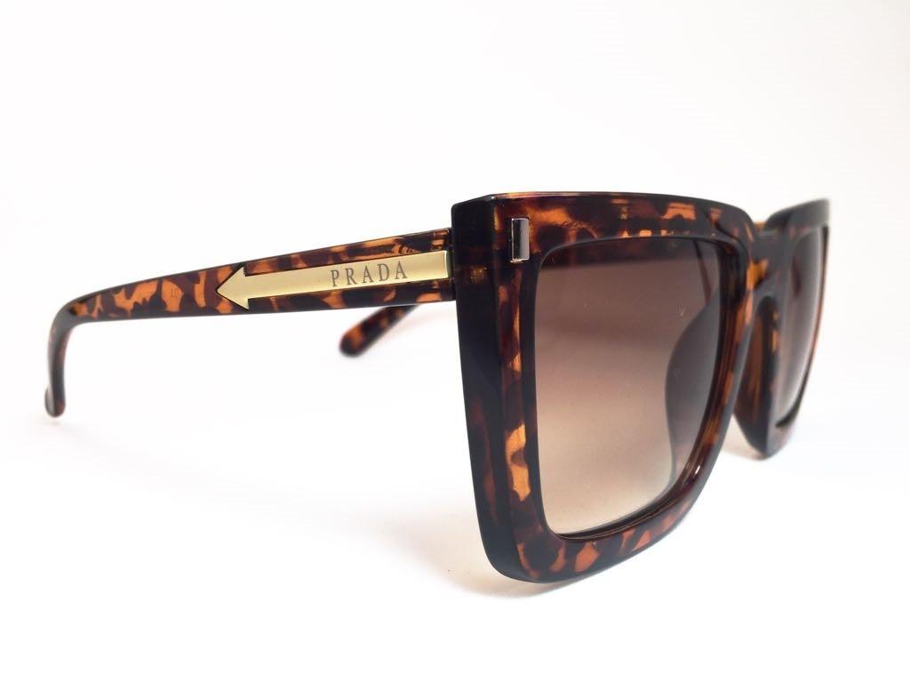 e861da41cc7a6 Oculos De Sol Feminino Prada Original Quadrado Frete Gratis - R  379,00 em  Mercado Livre