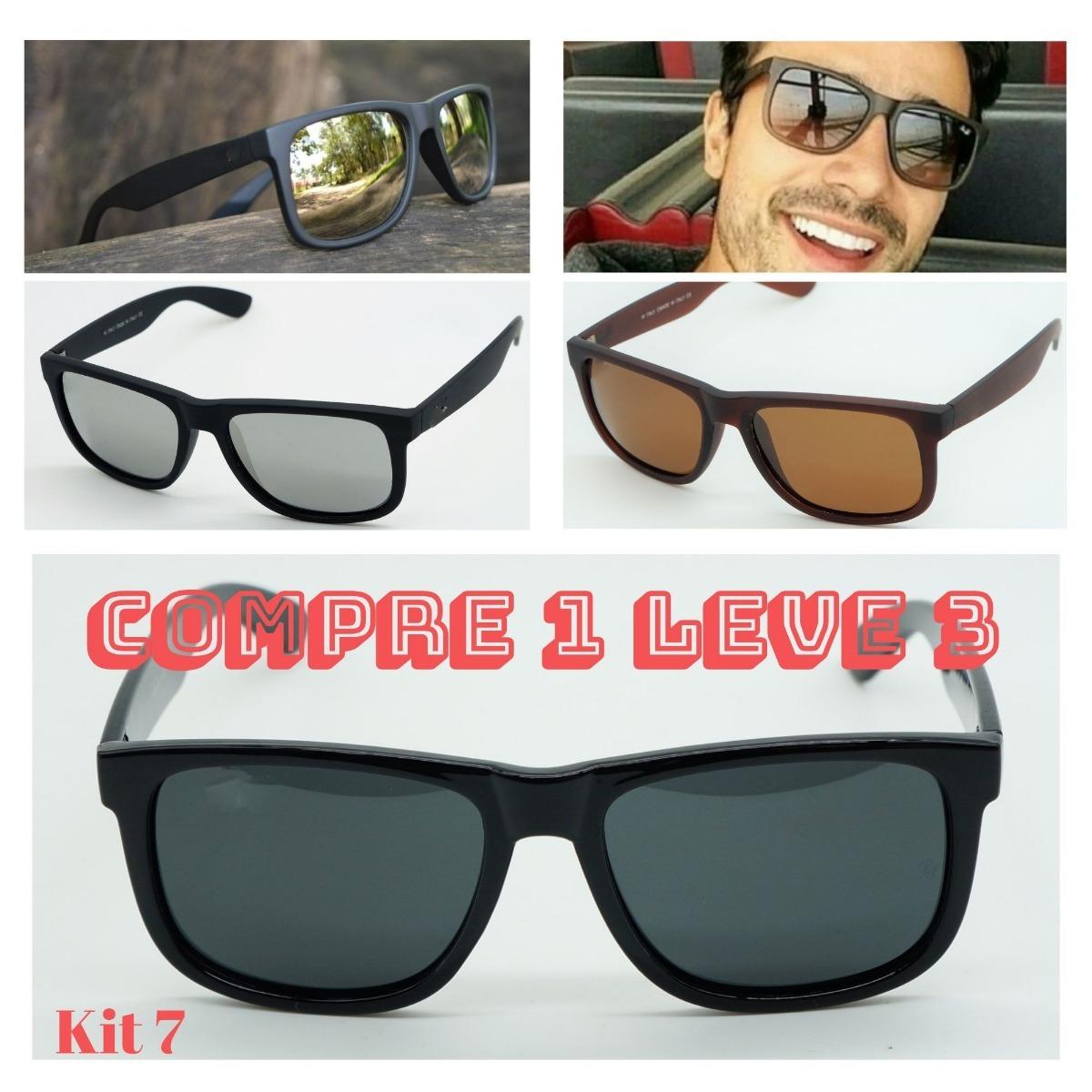 Óculos Sol Quadrado Justin Hexagonal Original Verde Espelhad - R  120,00 em  Mercado Livre 39b41429ed