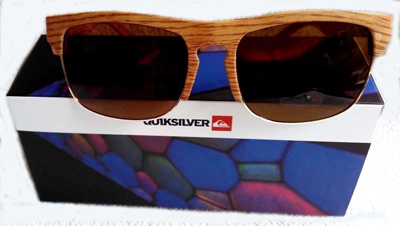 d6952b62c3ce4 Óculos De Sol Quiksilver The Ferris Madeira Bambú - R  79,99 em ...