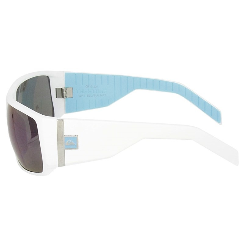 94028432535cd Óculos De Sol Quiksilver The Stomp White Blue - R  189