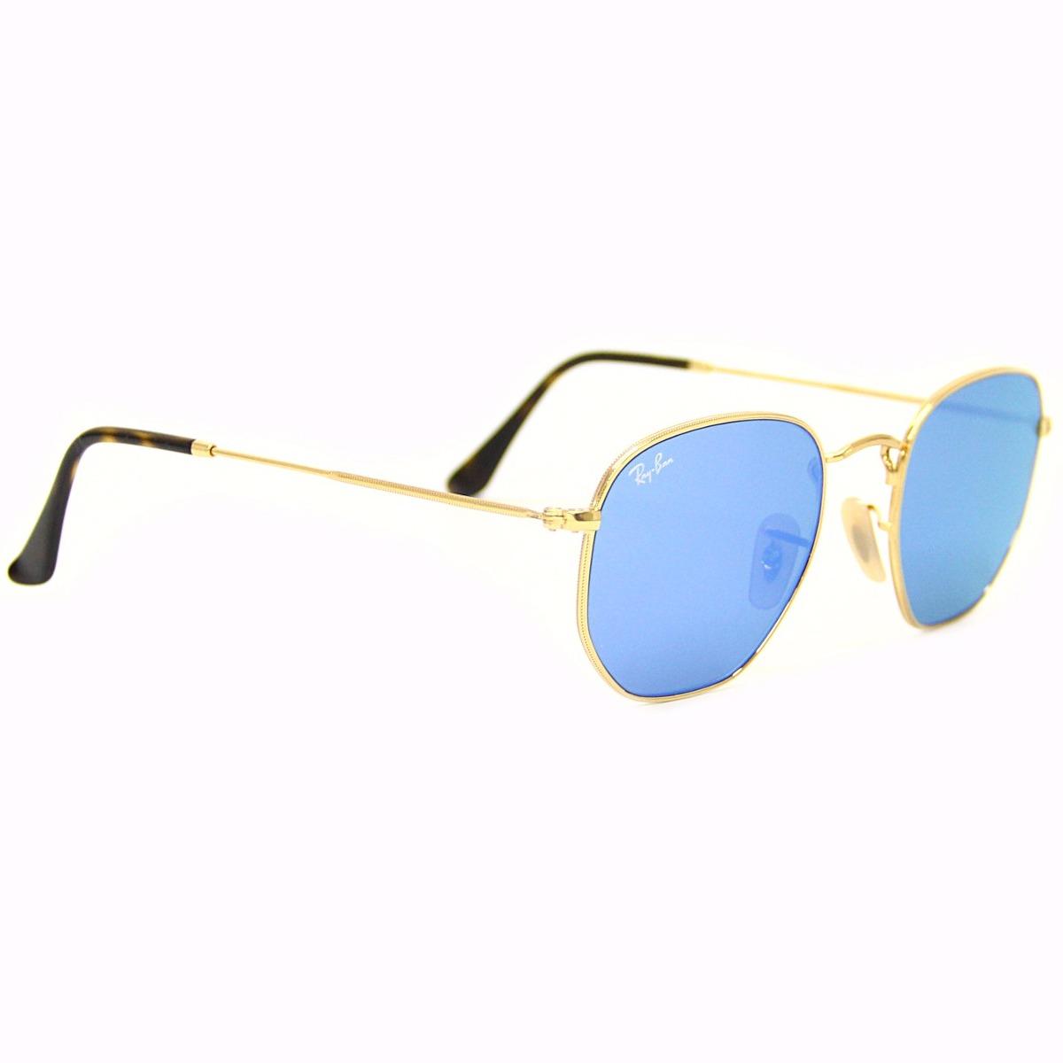 30b7e4a345b01 Óculos Sol Ray Ban 3548 Hexa Original + Limpa Lentes - R  449,99 em ...