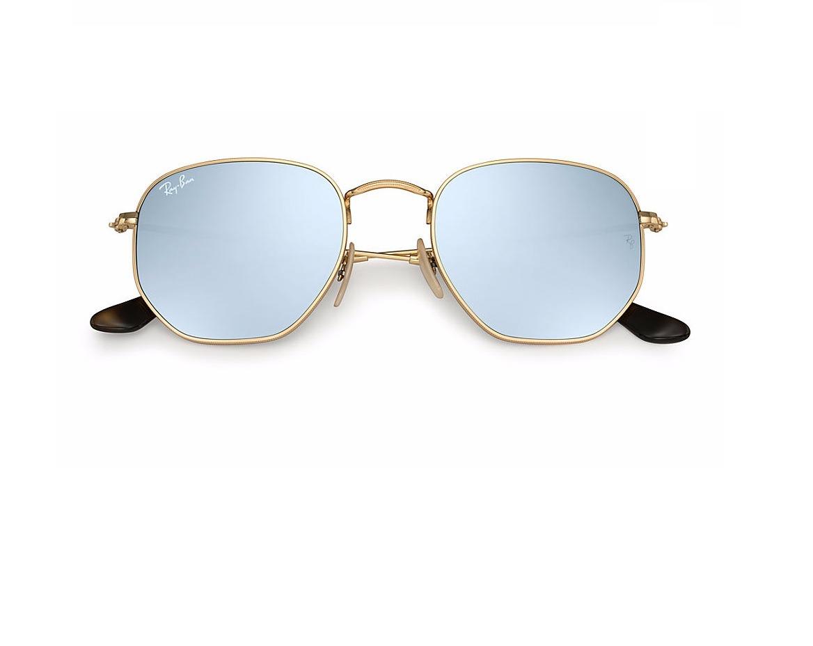 dd2a5c90ee16f Óculos De Sol Ray Ban Hexagonal Rb 3548n 001 30 51 - R  311,85 em ...