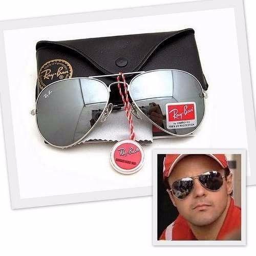 Óculos Sol Ray Ban Aviador Prata Espelhado Rb3025 - 50% Off - R  199 ... 6d768163e7