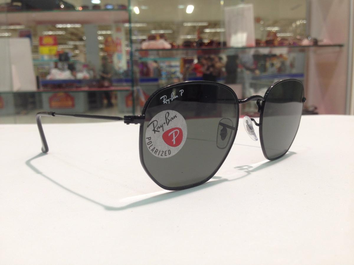 Óculos De Sol Ray Ban Polarizado Hexagonal Rb 3548-n 002 58 - R  573 ... 6e8b09b8d1