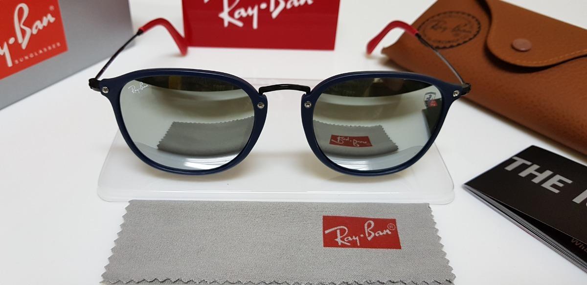 ... scuderia ferrari rb2448 azul e prata. Carregando zoom... óculos sol ray- ban. Carregando zoom. 9161752aff