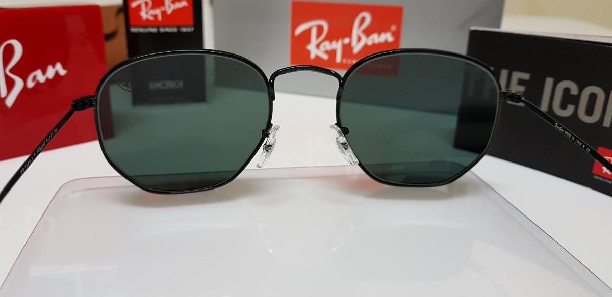 aef17793d0f61 Óculos Sol Ray-ban Hexagonal Flat Ferrari Rb3548 Preto Médio - R ...