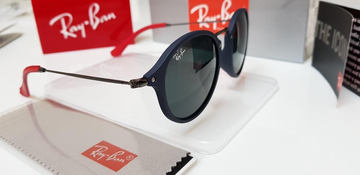Óculos Sol Ray-ban Rb2447n-f Scuderia Ferrari Azul E Preto - R  320 ... d6152ea35f