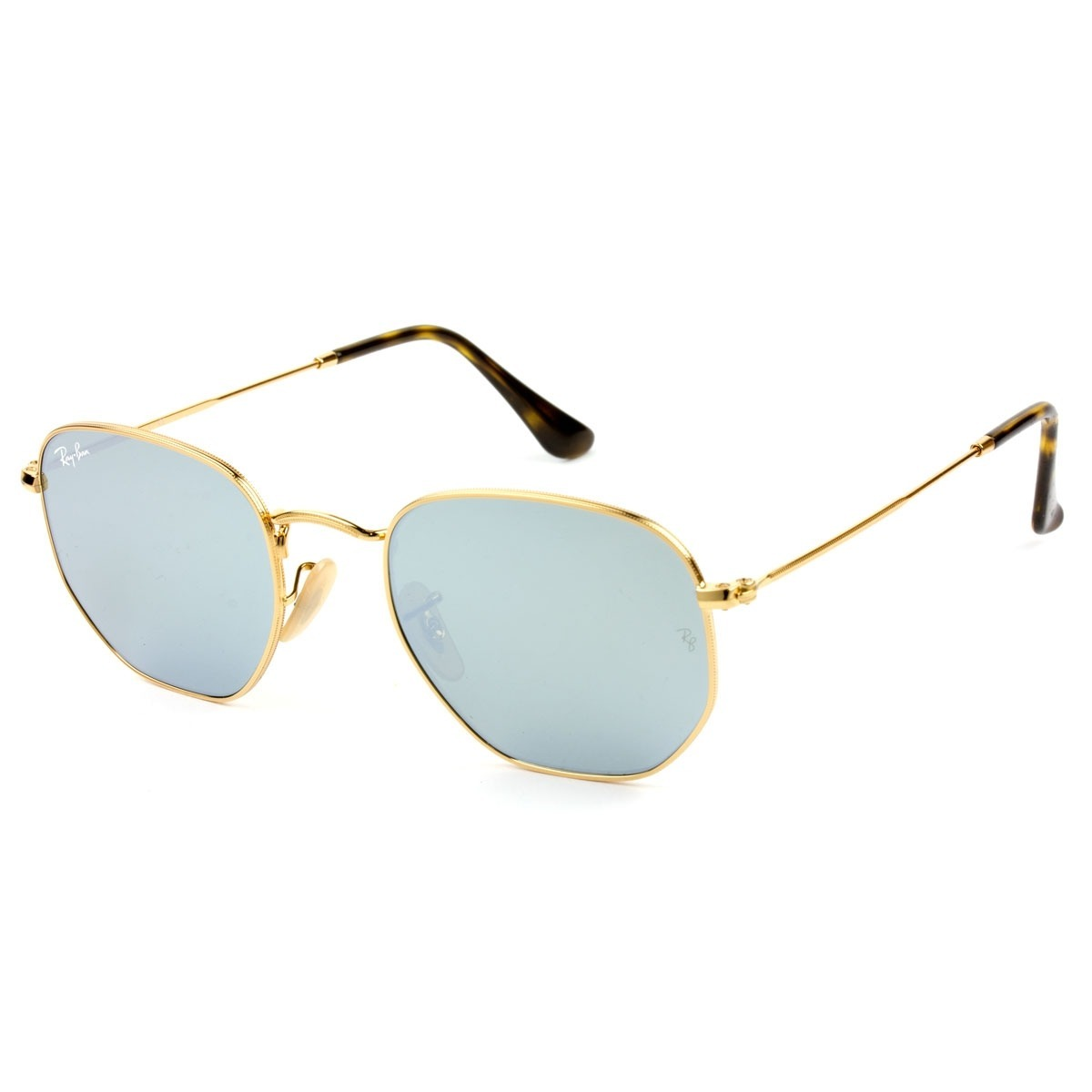 Óculos De Sol Hexagonal Ray Ban Rb 3548n 001 30 Tam 51 - R  417,00 ... 7bb59ea35e