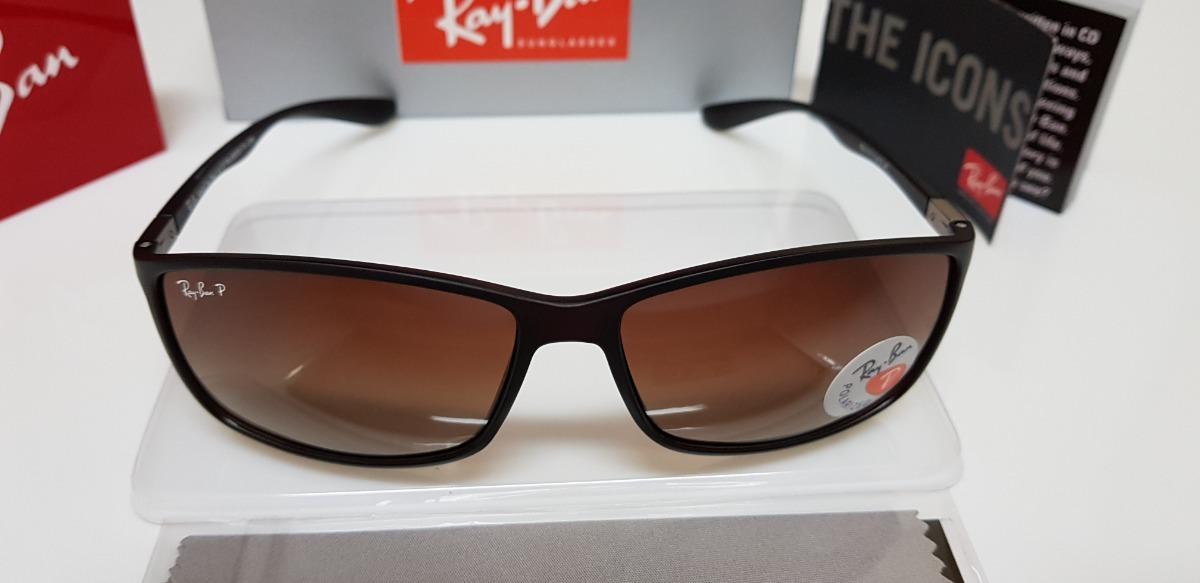7f10b4fa9c Óculos Sol Ray Ban Rb4179 Liteforce Marrom Degradê Classic
