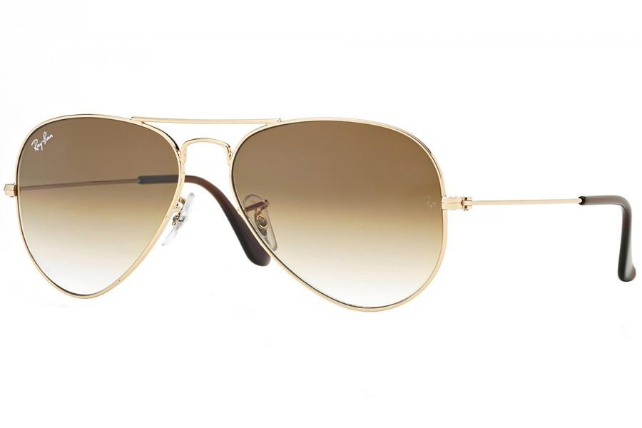 c770d1a6a1849 Óculos De Sol Ray Ban Aviador Metal Rb3025l 001 51 58 Dourad - R ...