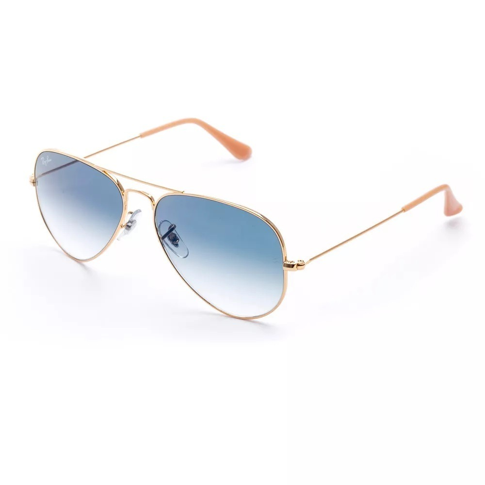 8b0bb7d7cb4c7 Óculos De Sol Ray Ban Aviador Rb3025 001 3f Tam.58 Dourado - R  299 ...