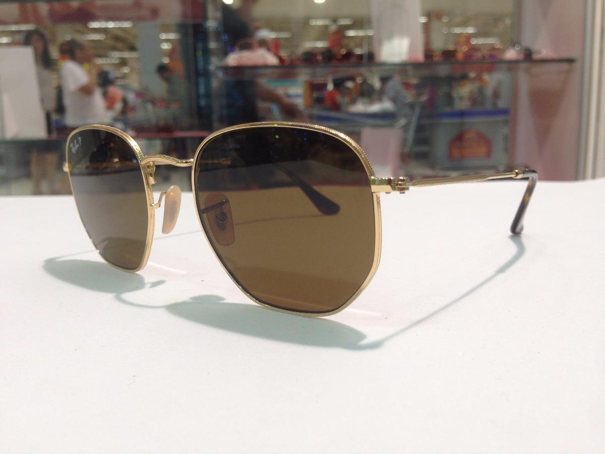óculos de sol ray ban hexagonal rb 3548-n 001-57. Carregando zoom... óculos  sol ray ban. Carregando zoom. 6d96a9b55a