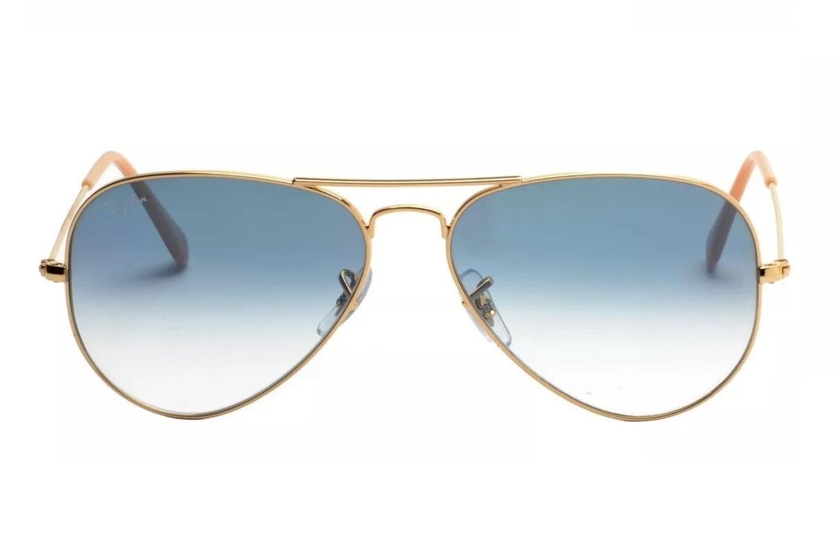 Óculos De Sol Ray Ban Aviador Rb3025 001 3f Tam.58 Dourado - R  299 ... 44e5a5faca