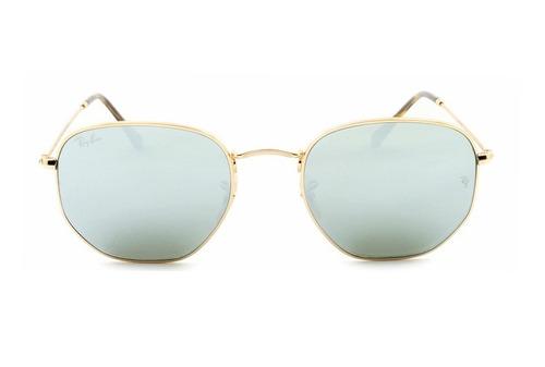 óculos de sol ray-ban hexagonal espelhado rb 3548n 001 30. Carregando  zoom... óculos sol ray-ban 0079264545