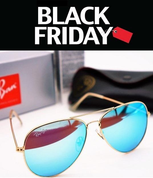 e72b831f9 Óculos Sol Ray Ban Aviador Azul Água Espelhado Lente Cristal - R$ 78 ...