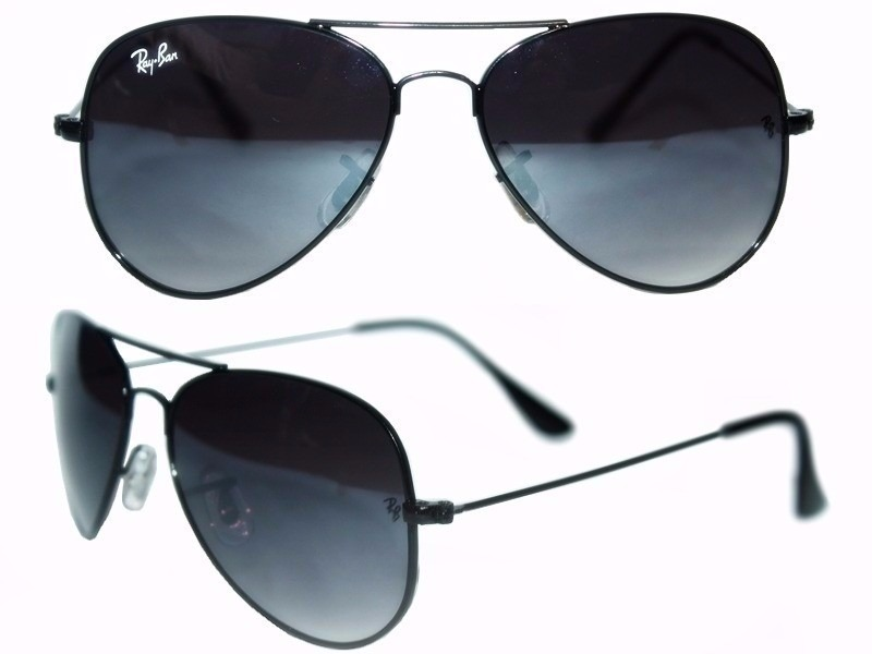 óculos sol ray-ban aviador preto degrade original unissex. Carregando zoom. 41143f5a4d