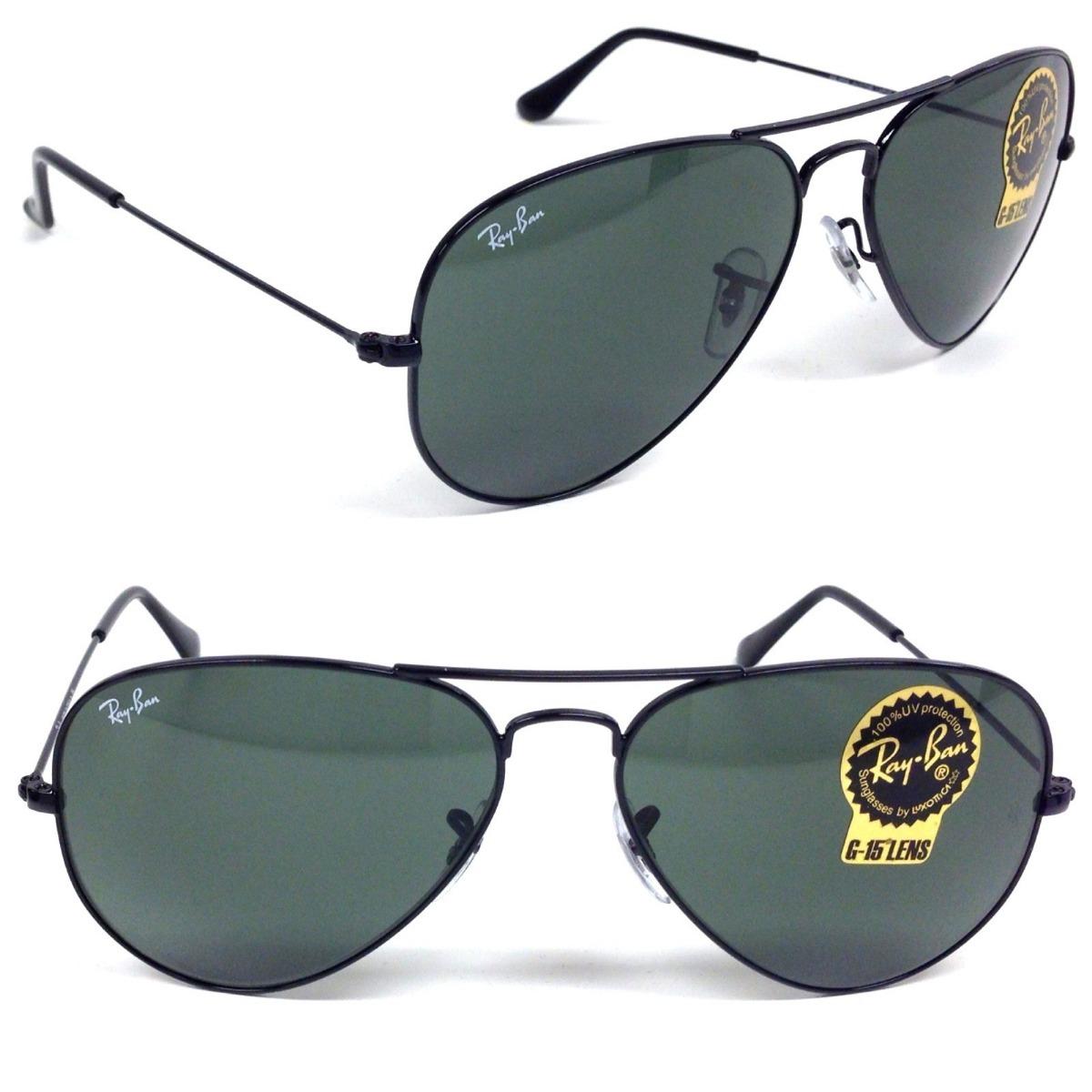 6bc2457cd óculos sol ray-ban aviador preto masculino feminino original. Carregando  zoom.