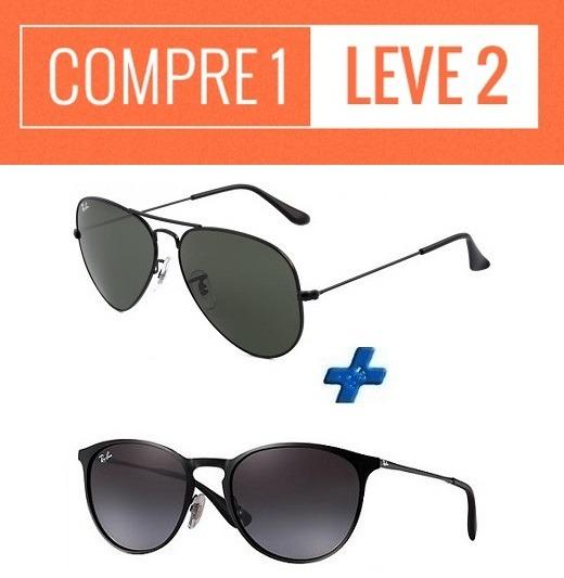 Oculos Sol Ray Ban Aviador + Rb Erika   Compre 1 Leve 2 - R  134,94 ... aec8363baa