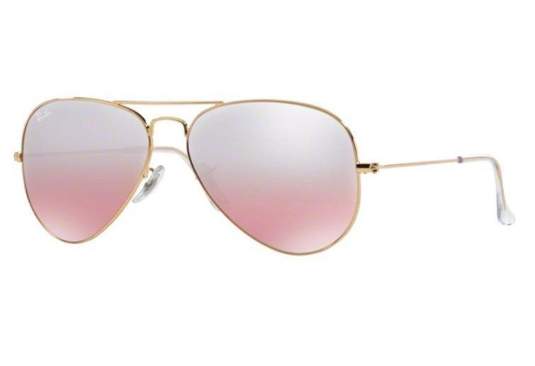 Oculos Sol Ray Ban Aviador Rb3025 001 3e 55mm Dourado Rosa D - R ... dfd89aa791