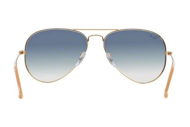 1696985030162 Oculos Sol Ray Ban Aviador Rb3025 001 3f Dourado Azul Degrad - R ...