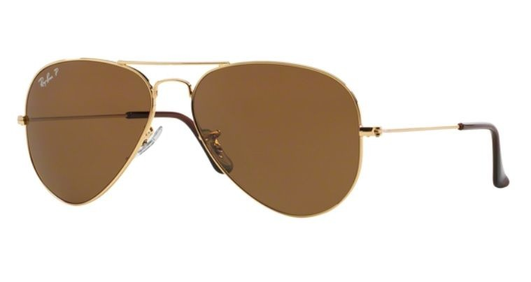 Oculos Sol Ray Ban Aviador Rb3025 001 57 58mm Polarizado - R  499,00 ... 49a046fc49