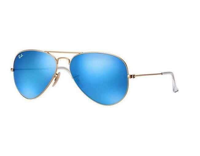 Oculos Sol Ray Ban Aviador Rb3025 112 17 58 Azul Espelhado - R  429 ... 575354a9c2