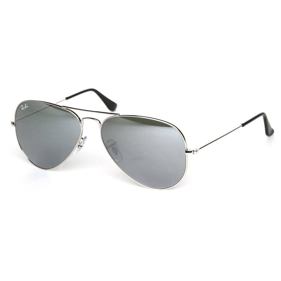 óculos sol ray-ban aviador rb3025 prata espelhado original. Carregando zoom. 678cc60668