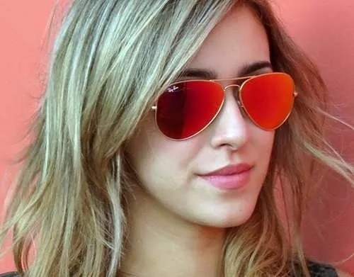 00d563afdf6a9 Óculos Sol Ray Ban Aviador Vermelho Espelhado Lente Cristal - R  123 ...