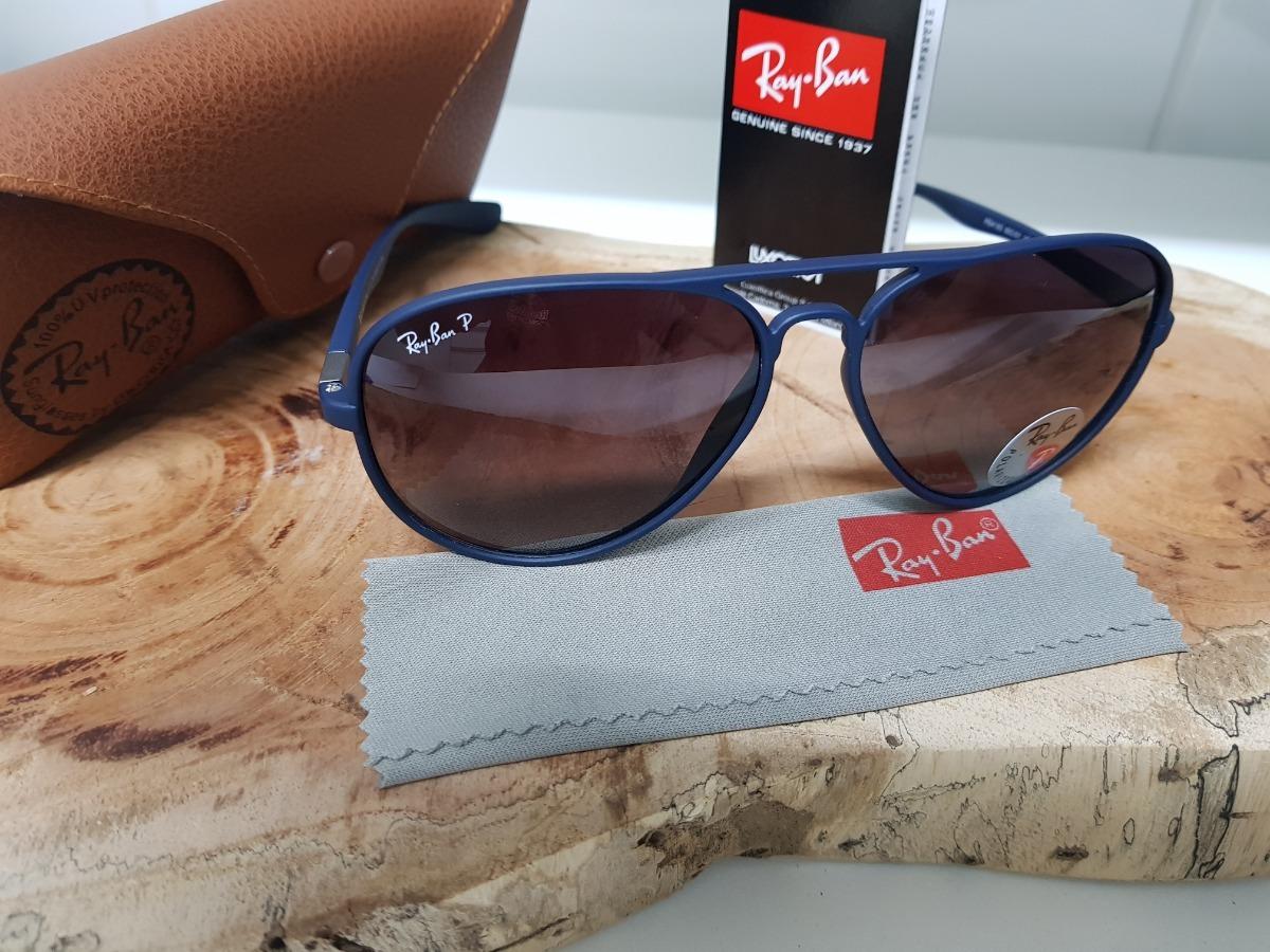 862cbe1237fab óculos sol ray-ban aviator 4180 azul liteforce polarizado. Carregando zoom.