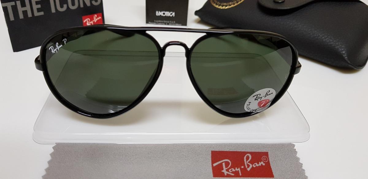 25023645d9724 Óculos De Sol Ray-ban Aviator 4180 Preto Liteforce Verde G15 - R ...