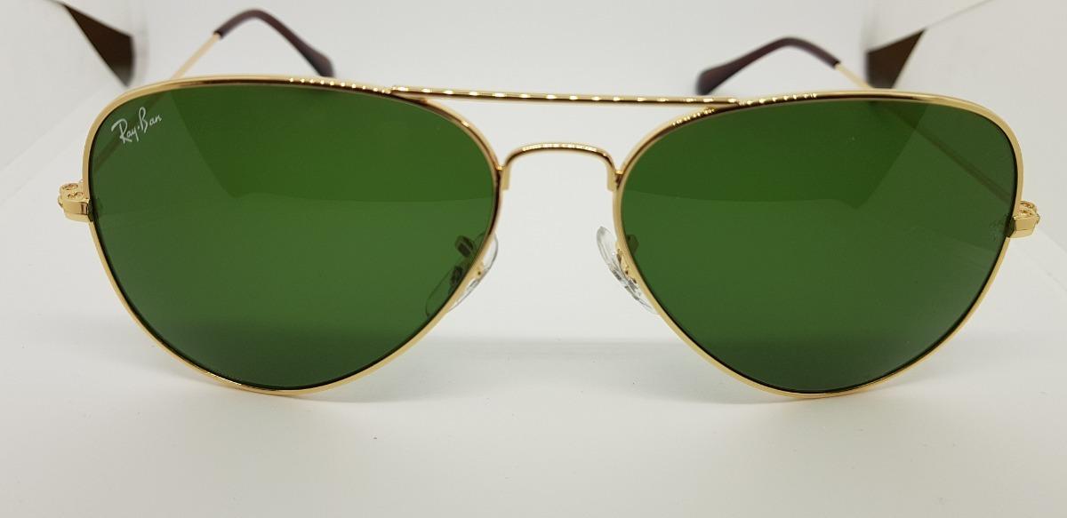 Óculos Sol Ray-ban Aviator Dourado Lentes Verdes Tradicional - R  280,00 em  Mercado Livre 0597f2fa8a