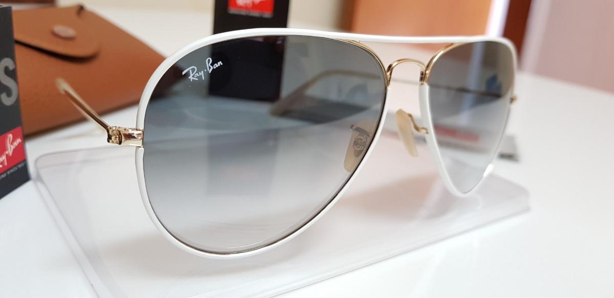 óculos sol ray-ban aviator full color rb3026 148 32 branco. Carregando zoom. 32ccaed3bd