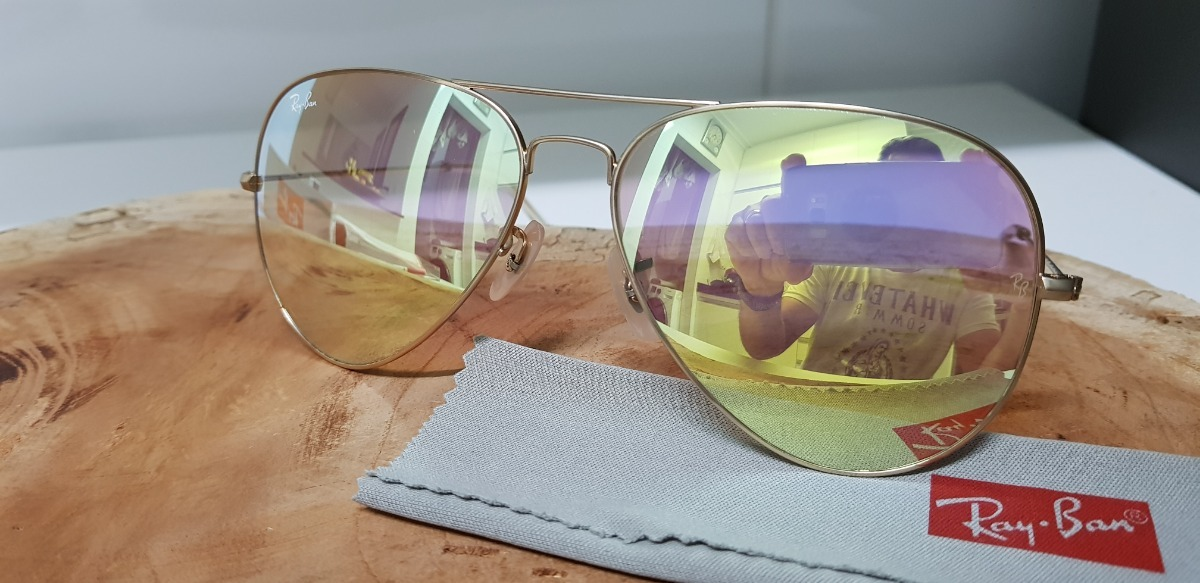 Óculos Sol Ray-ban Aviator Large Metal Rb3026 112 z4 Ouro - R  310 ... 6b55331074