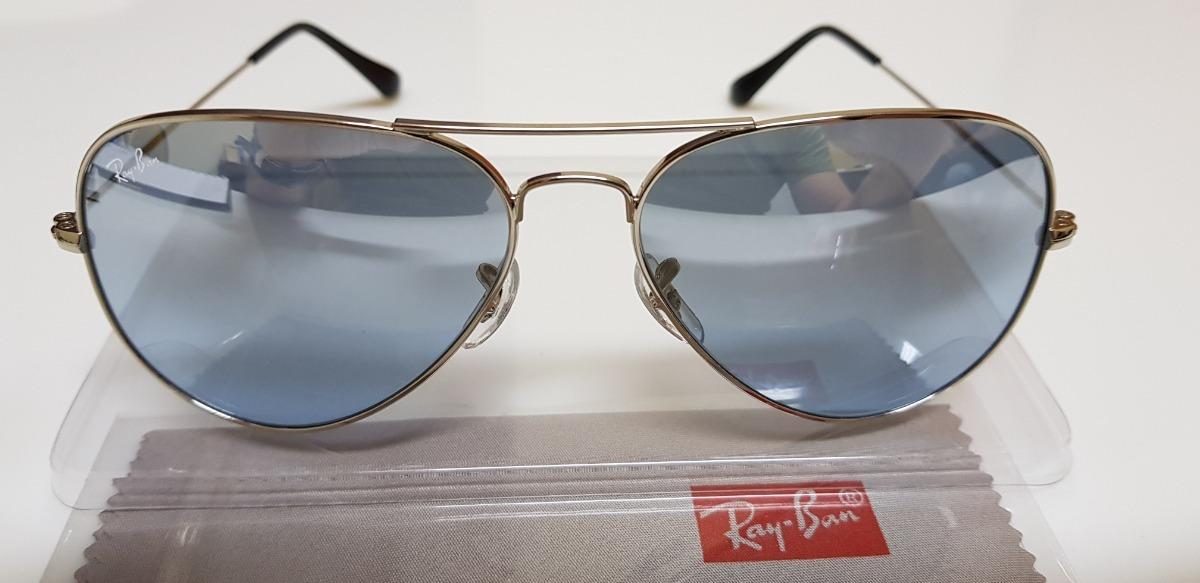 637647bca522b óculos sol ray-ban aviator rb3025 lente azul claro espelhada. Carregando  zoom.