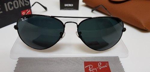 Óculos Sol Ray-ban Aviator Rb3025 Preto Clássico Pequeno 55. - R ... 4572aa3bc3