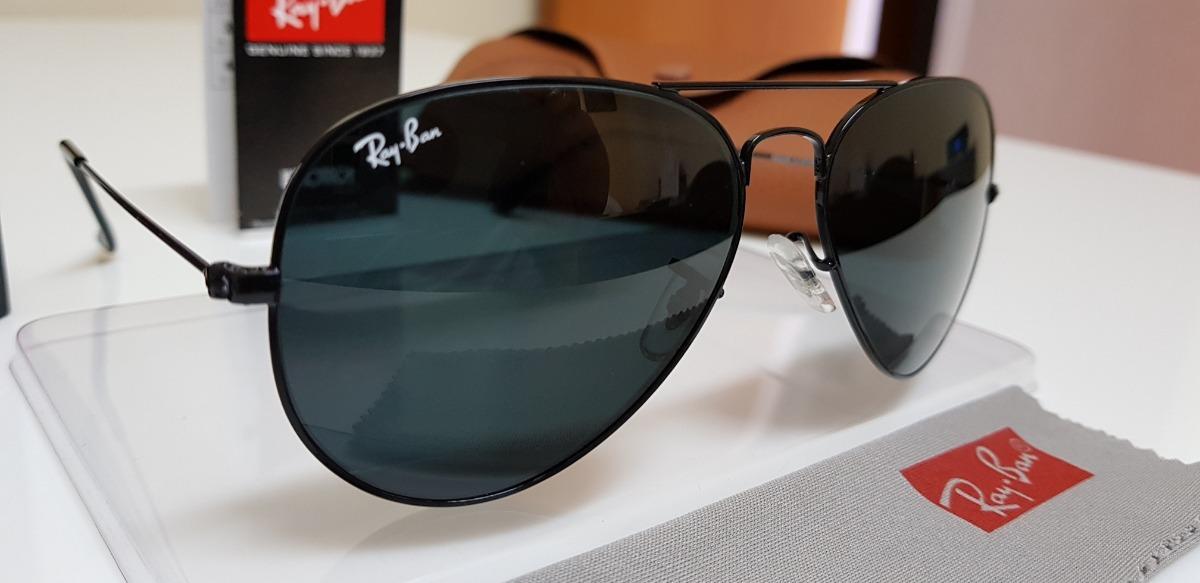 óculos sol ray-ban aviator rb3025 preto clássico pequeno 55. Carregando  zoom. 901a5772ca