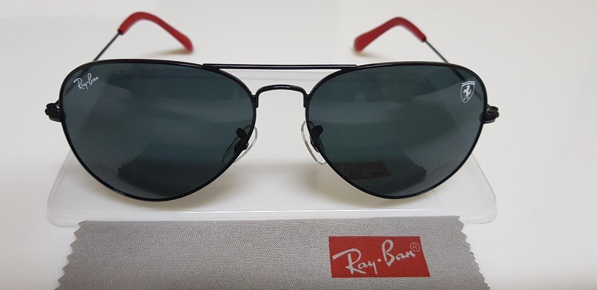 f30625be769f1 óculos sol ray-ban aviator scuderia ferrari lente cinza. Carregando zoom.