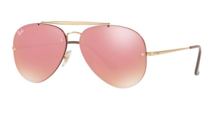 Oculos Sol Ray Ban Blaze Aviador Rb3584n 9052e4 Dourado Rosa - R ... 2340cf4d0e