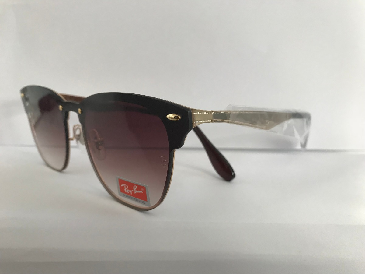 320ec808d8414 óculos sol ray ban blaze clubmaster marrom degrade rb3576n. Carregando zoom.