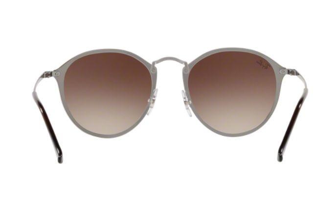 88233fec86847 Oculos Sol Ray Ban Blaze Round Rb3574n 004 13 59mm Marrom De - R ...