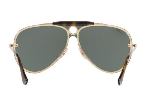 Oculos Sol Ray Ban Blaze Shooter Rb3581n Dourado Lente G15 - R  459 ... 4d7496de60