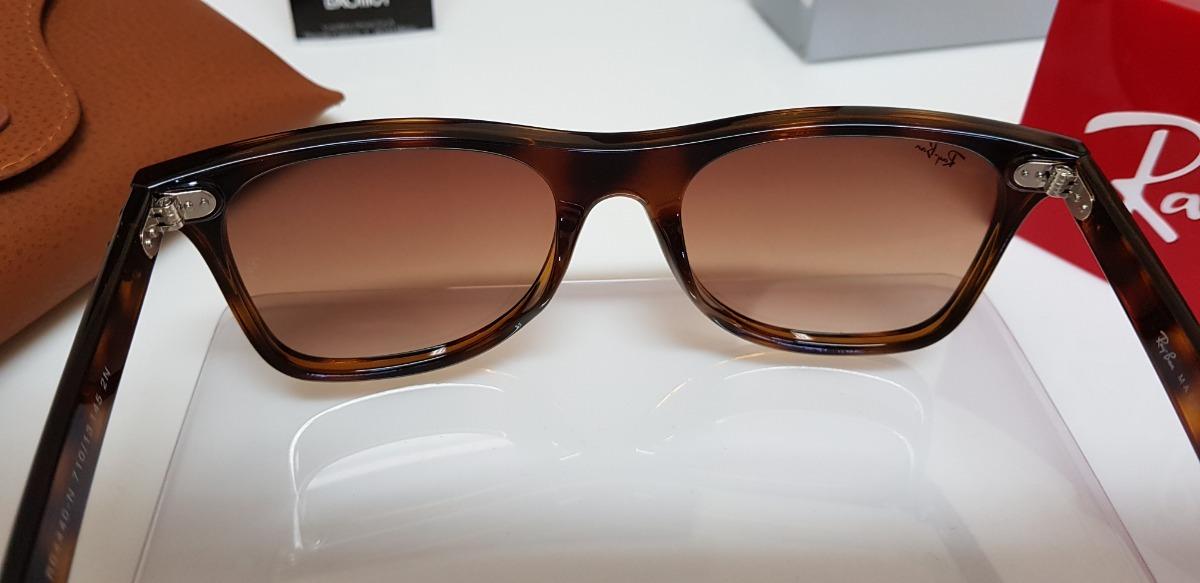 fded0c707 óculos sol ray-ban blaze wayfarer nylon rb4440 marrom tartar. Carregando  zoom.
