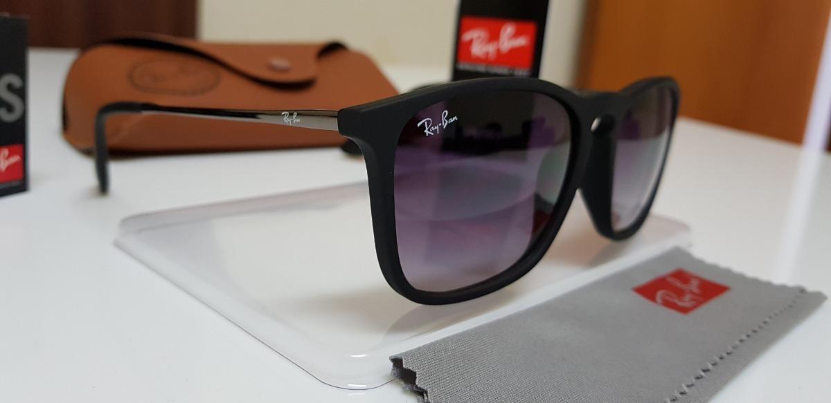 óculos sol ray-ban chris 4187 preto clássico lente degradê. Carregando zoom. 24c14b39d4
