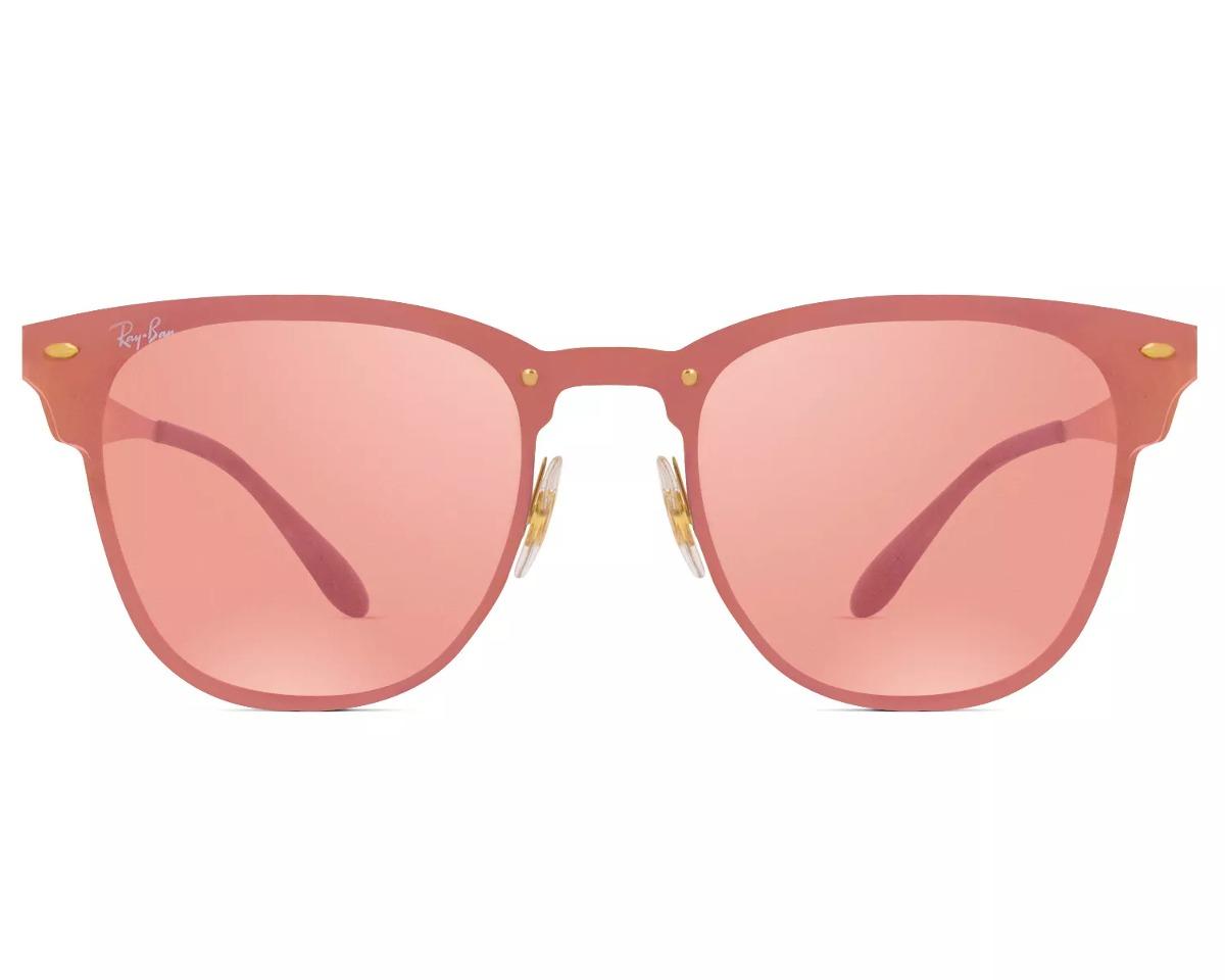 bd5aff36ecdc5 Óculos De Sol Ray-ban Blaze Clubmaster Rb 3576n 043 e4 140 - R  438 ...