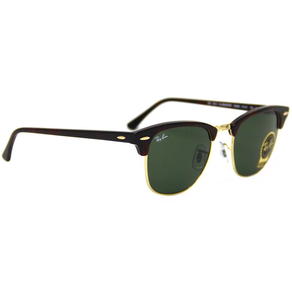 d25221ac3e364 Óculos Sol Ray Ban Clubmaster Rb 3016 Original - R  350,00 em ...