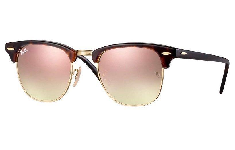 7e547e4b96 oculos sol ray ban clubmaster rb3016 990 7o 51mm havana rosa. Carregando  zoom.