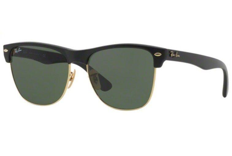 7565e33ba0112 Oculos Sol Ray Ban Clubmaster Rb4175 877 57mm Preto Dourado - R  429 ...