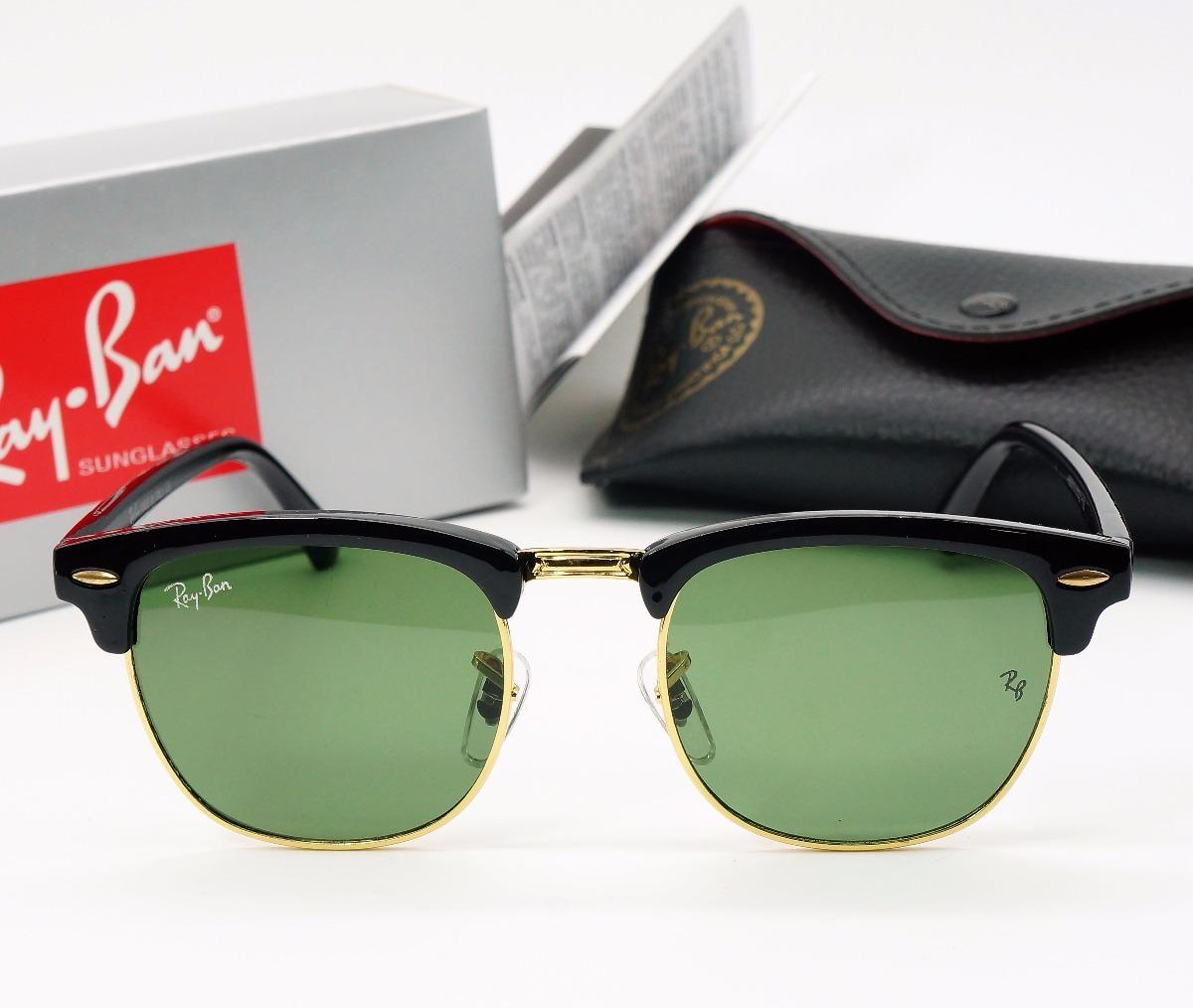 2b04b9442 oculos sol ray ban clubmaster retro quadrado preto tartaruga. Carregando  zoom.