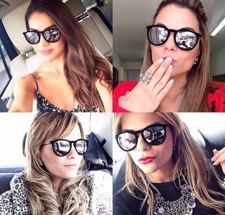 214eb7136 Oculos Ray Ban Erika Beige. #OGrandeLance: Os óculos de sol do Oscar 2015 - Stevie  Blog