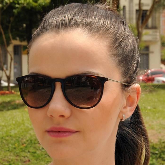 2a559af9330a7 Óculos D Sol Ray Ban Erika Rb4171 Gatinha Marrom Feminino - R  129 ...